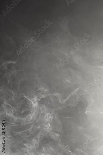 dense smoke on black background Canvas Print