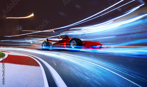 sport-racing-car-fast-driving-to-achieve-the-champion-dreame-motion-blur-and-lighting-effect-apply-3d-rendering-and-mixed-media-composition