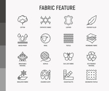 Fabric Feature Thin Line Icons...