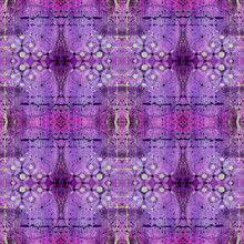 Bright Purple Abstract Seamles...