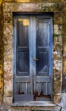 Old Gray Colored Door