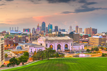 Kansas City, Missouri, USA Downtown Skyline With Union Station