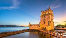 Belem Tower On The Tagus River...