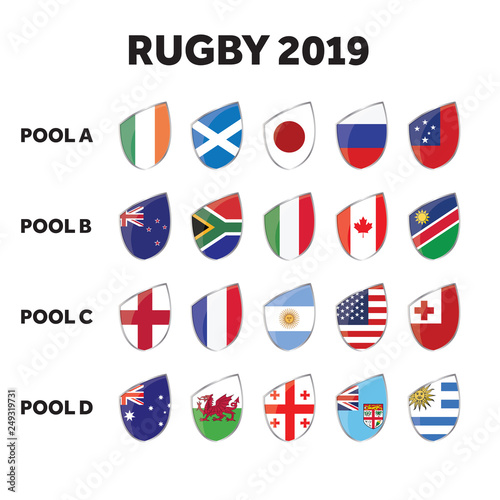 Fotomural Rugby competition group pools.