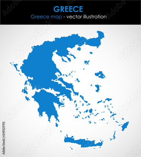 Greece graphic map of the country. Vector illustration ...