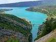 Blue Lac de Sainte-Croix lake near Verdon gorges in Provence, France