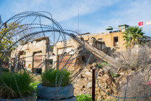 Barbed Wire And A Sentry Post ...