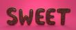 Leinwandbild Motiv 3D Illustration sweet stehen rosa Hintergrund
