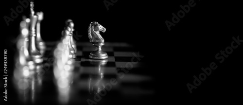 Pieces on chess board for playing game and strategy Fototapete
