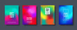 Abstract modern design background. Colorful neon gradient. Dynamic northern lights colors. Eps10 vector.