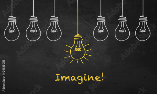 Photo  Chalkboard Light Bulb - Imagine