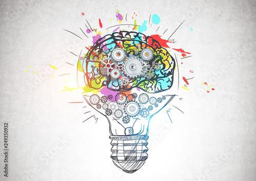Żarówka z mózgiem przekładni, kreatywne myślenie