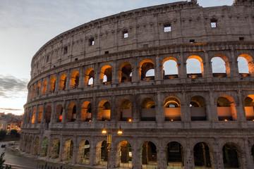 The Colosseum or Coliseum, Flavian Amphitheatre in Rome, Italy