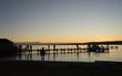Sonnenuntergang am Starnberger See im Winter