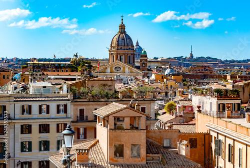 Photo Stands Rome View of Rome's city from Trinita dei Monti church, Rome, Italy