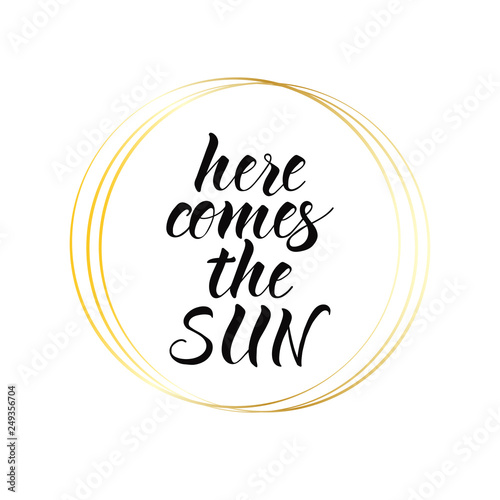 Here comes the sun Wallpaper Mural