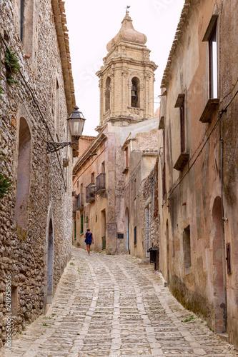Fotografie, Obraz  Erice, Trapani, Sicilia, Italia