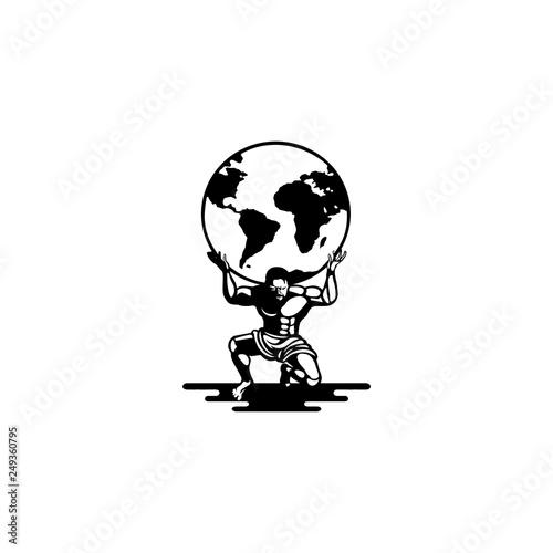 Fotografía  atlas logo vector