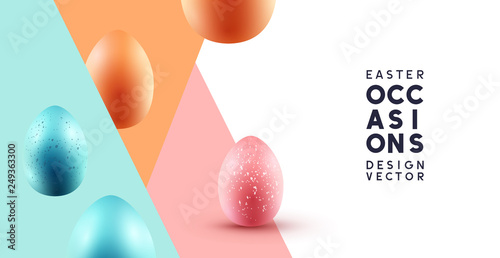 Fotografia Happy Easter abstract background with chocolate eggs