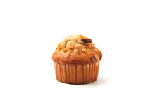 Nuts Cupcake Muffin Isolated On White Background