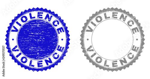 Fényképezés  Grunge VIOLENCE stamp seals isolated on a white background