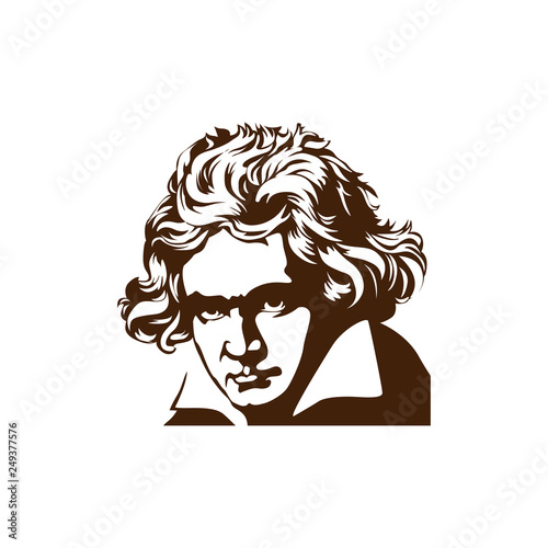 Portrait of Beethoven Portraits of famous historical figure Canvas Print
