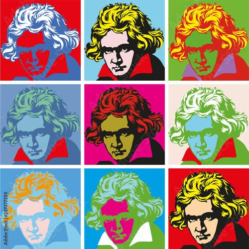 Portrait of Beethoven Portraits of famous historical figure
