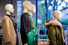 Female Mannequins In A Fashion Store
