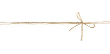 Twine Rope With Bow Isolated.