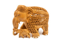Traditional Carved Elephant Mo...