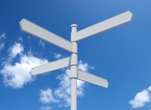 White Blank Signpost Isolated ...