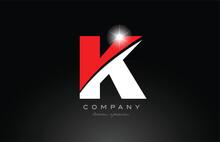 Red White Color Letter K Alpha...