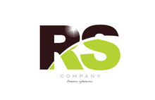 Letter Rs R S Alphabet Combination In Green And Brown Color For Logo Icon Design