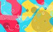 Pop art color background. Memphis pattern