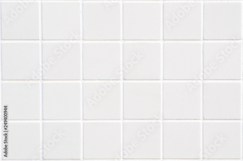 Fotomural  white ceramic tile with 24 squares in rectangular form