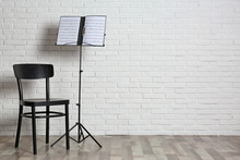 Chair And Note Stand With Musi...
