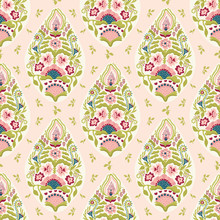 Hand Drawn Arabesque Floral Paisley Damask Illustration. Seamless Vector Pattern All Over Print. Traditional Persian Indian Flower Foulard Drop Motif. Decorative Stylized Shawl Fashion, Home Decor.