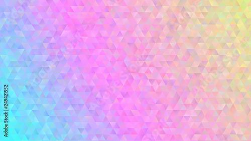 Photo  Holographic Gradient Triangle Pattern Vector Background