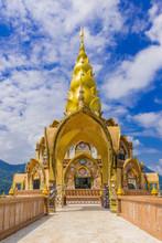 Main Pagoda In Wat Phra That Pha Son Kaew Temple At Phetchabun Thailand