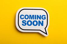 Coming Soon Speech Bubble Isol...