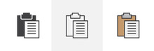 To Do List Icon. Line, Glyph A...