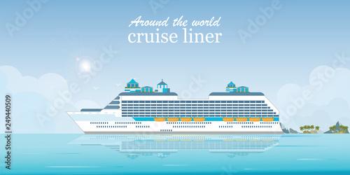 Fotografie, Obraz  Cruise liner passenger ship.