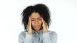 Frustratation Black Woman with Headache