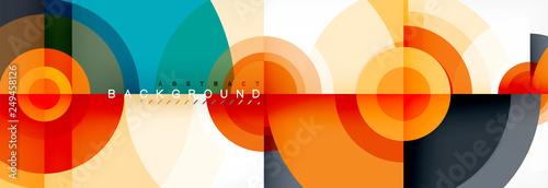 Fotografía  Vector circle composition, geometric minimal design illustration