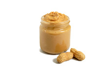 Peanut Butter In A Glass Jar W...