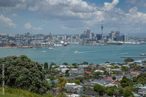 Canvas Prints New Zealand Skyline city of Auckland from Devonport New Zealand