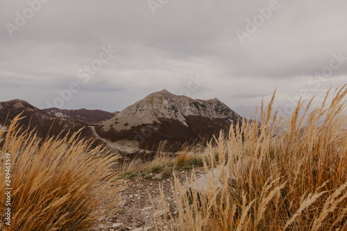 Fotografia  Panoramic view of the highest peaks of the Lovcen mountain national park in southwestern Montenegro
