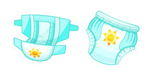 Baby Absorbent Diapers, Kids Pants. Children's Antibacterial Comfortable Protection.