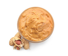 Bowl With Tasty Peanut Butter ...