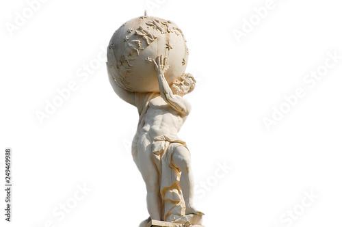 Cuadros en Lienzo Atlas God Statue